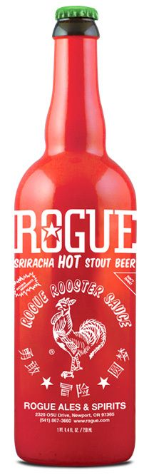 We love Sriracha, and we love beer. But together? Jury is out.   Rogue, the West Coast producer of such beers as the American Ale, Portland State IPA and the Beard beer, as well as ciders and sodas, are doing a hot sauce and beer mashup with their latest brew, the Sriracha Hot Stout Beer.