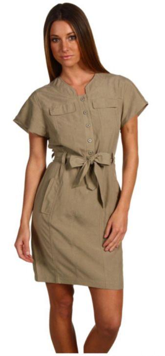 Шитье: платье из льна в стиле сафари (платье, сафари, стиль) ФОТО #3