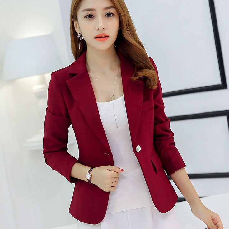 Cheap blazer dress, Buy Quality blazer casual directly from China jacket softshell Suppliers: New Long-sleeved Slim Women Blazers And Jackets Small Women Suit Korean Version Slim (Gray Blue Wine Red Black) Ladies Blazer
