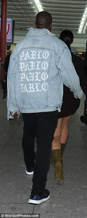 The Life Of Pablo:Kanye covered up with one of his 'The Life Of Pablo' denim jackets from his current merchandise collection