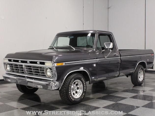 AutoTrader Classics - 1975 Ford F100 Truck Gray 8 Cylinder Automatic Other   Classic Trucks   Lithia Springs, GA