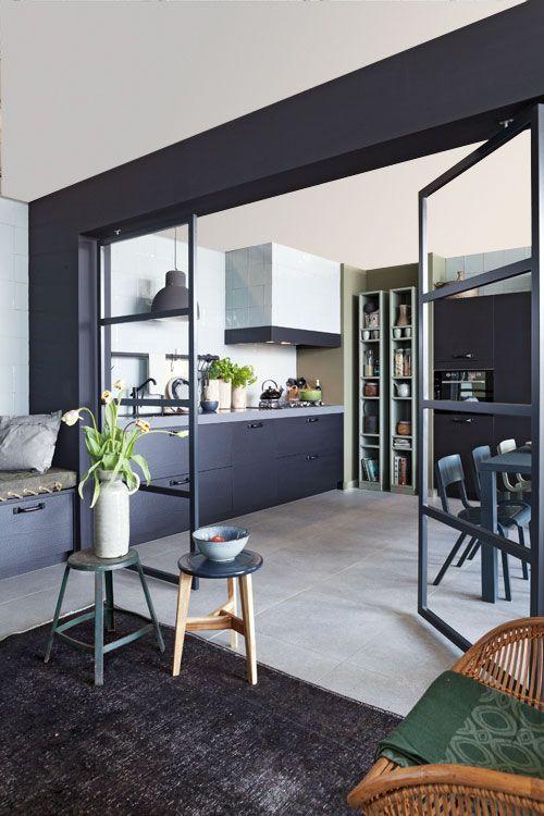glazen deuren tussen keuken en woonkamer NIEUW! De vtwonen keuken - vtwonen