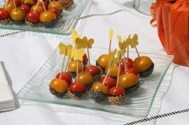 Tomates cerises caramélisées