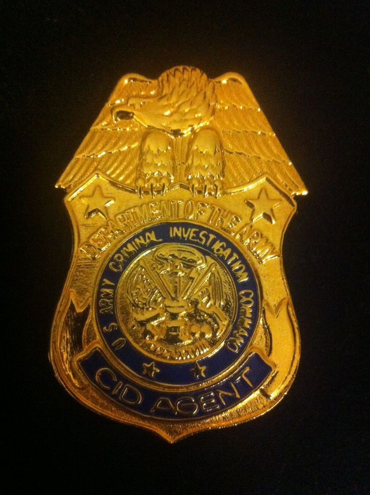 U.S. Army badge: CID Agent, Criminal Investigation Command ...