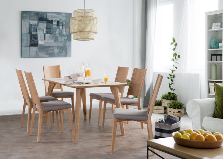 Perfect duet - Alfred table and Sella chair. #dinnertable #woodenfurniture #KloseFurniture