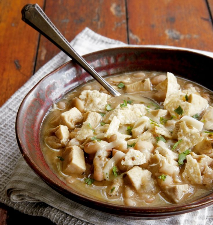 Tennessee White Chili (add green chilies and 1.5 cups chicken stock)