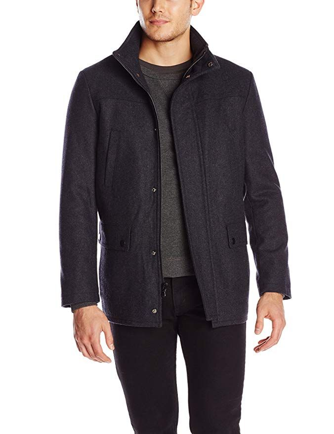 e9e457510 Kenneth Cole REACTION Men's Classic Barn Coat Review   Jackets and ...