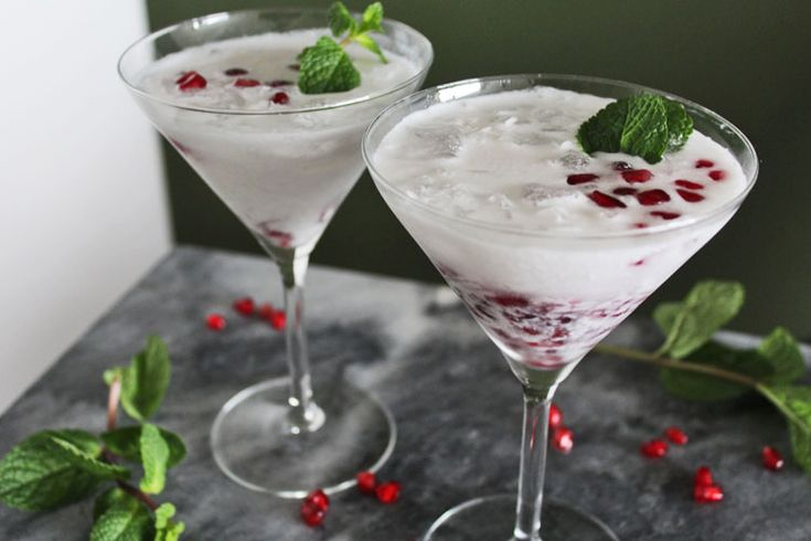 Witte Kerst mojito