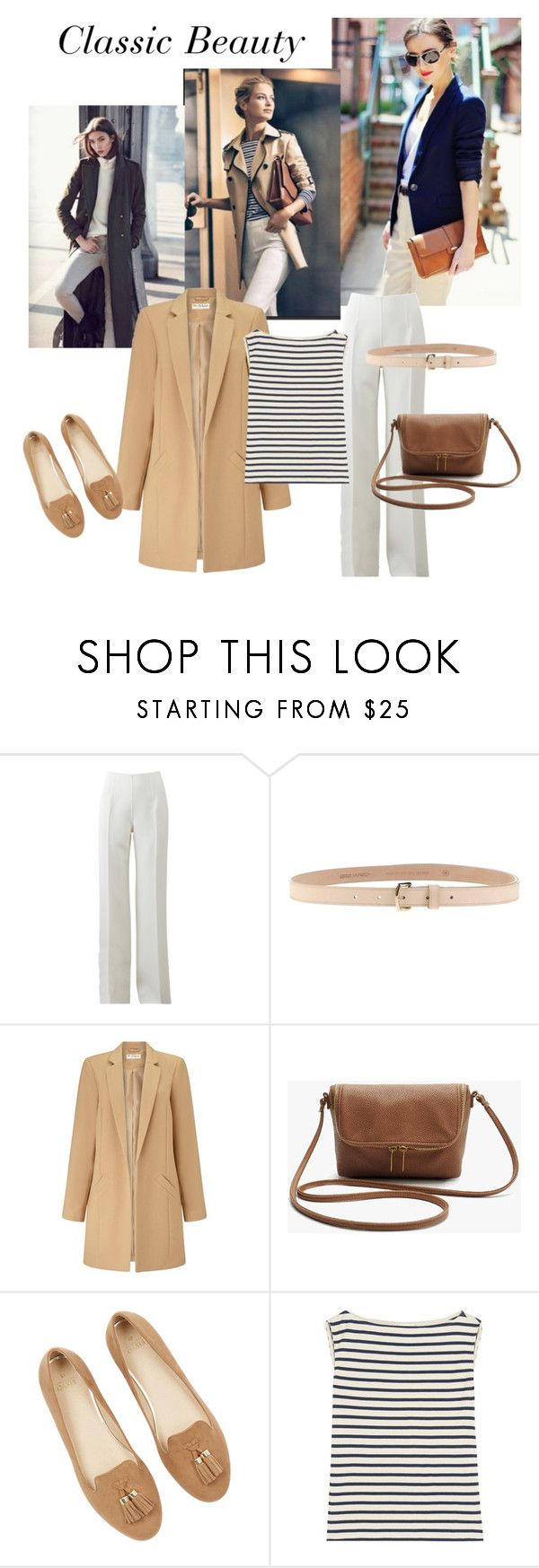 """Classic personality styling rectangle body shape"" by monicazelin on Polyvore featuring Michael Kors, Dsquared2, Miss Selfridge and Yves Saint Laurent"