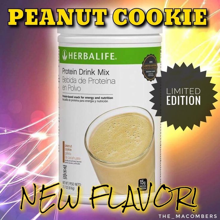 New product launched!! Peanut cookie Protein Drink Mix!  Www.goherbalife.com/mnewell