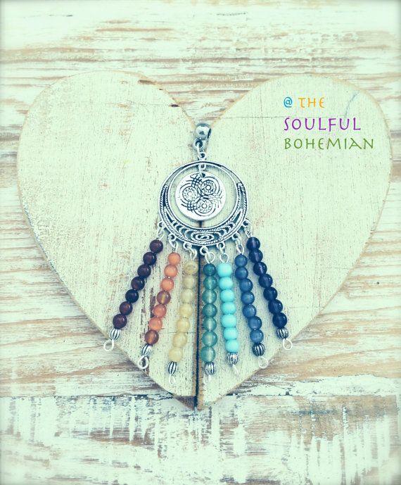 Bohemian chakra inspired pendant handmade by TheSoulfulBohemian, $19.95