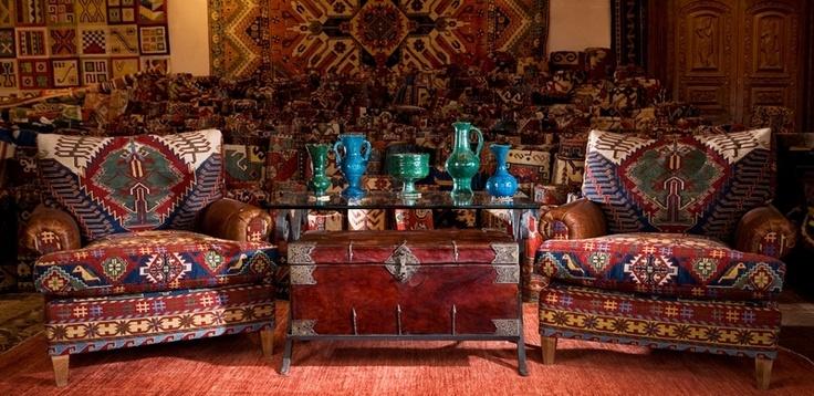 Afghan furniture global design i love pinterest for Santa fe decorations home