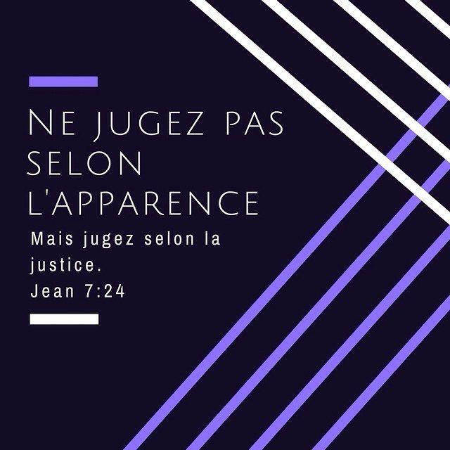 La #bible est de bon conseil ! Arrives-tu à ne pas juger sur l'apparence ? #versetdujour