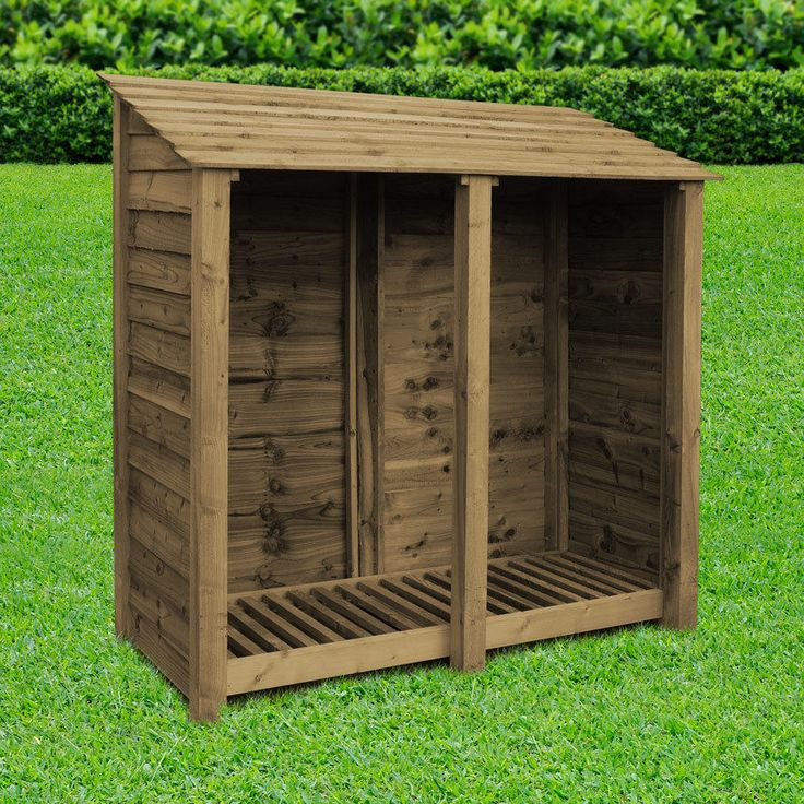 A good quality log store from Rutland County Garden Furniture. Solidly built from heavy duty posts and boards this log store is sure to last for years.