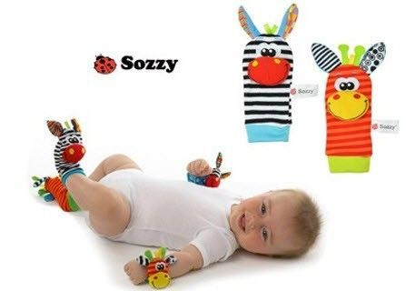 $14.95CA FREE shipping! Baby Animal Wrist Rattles and Foot Socks