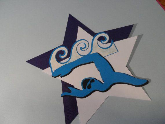Die cut swim  Swim team   locker decoration  by RUBY6000 on Etsy