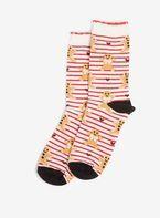 Womens Multi Coloured Christmas Gingerbread Print Ankle Socks- Multi Colour