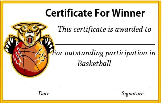 27 best basketball certificate template images on