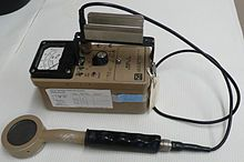 """G-M counter with pancake type probe by Johannes """"Hans"""" Wilhelm """"Gengar"""" Geiger (30 September 1882 – 24 September 1945) was a German physicist. He is perhaps best known as the co-inventor of the Geiger counter"""