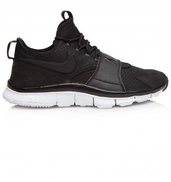 NIKE FREE ACE LEATHER. Black. £92.00