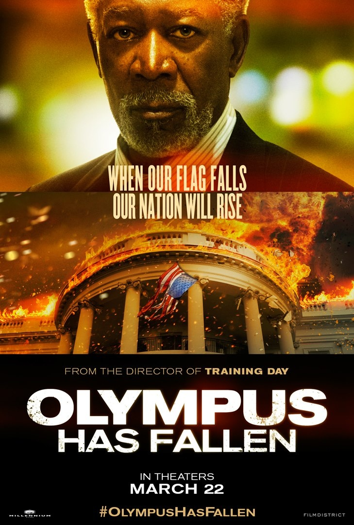Morgan Freeman as Speaker Trumbull in Olympus Has Fallen
