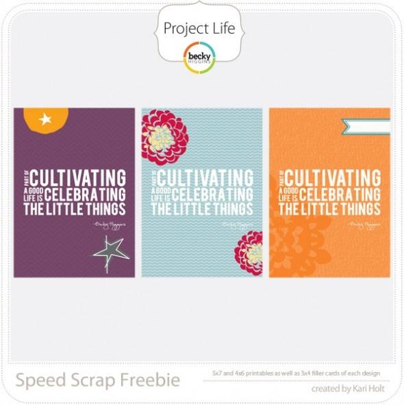 Project Life Freebie!!!