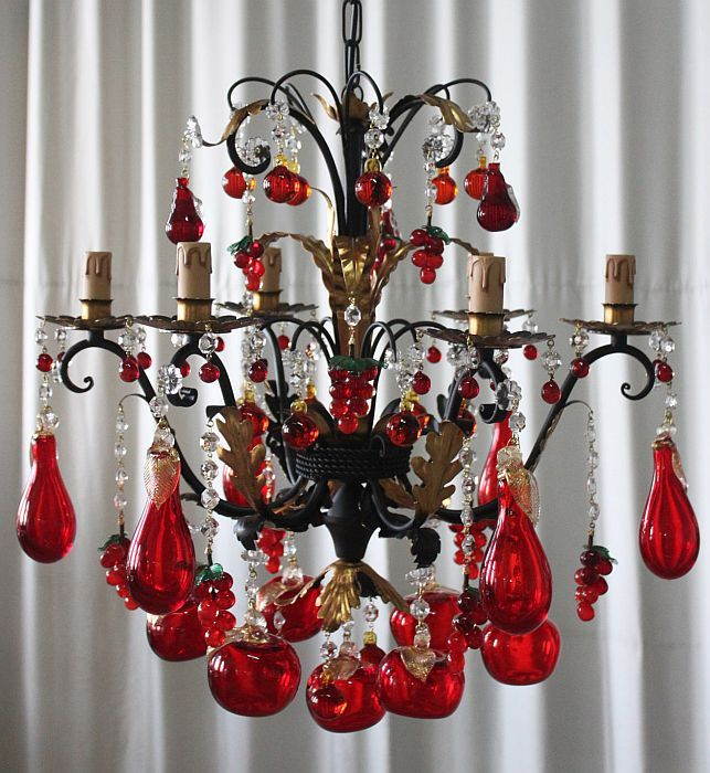Small Murano Crystal Chandelier: 25 Best Fruit Chandeliers Images On Pinterest