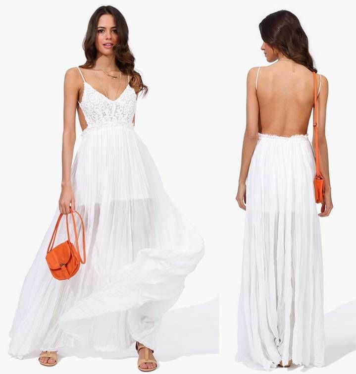 Voile halter neck maxi dress