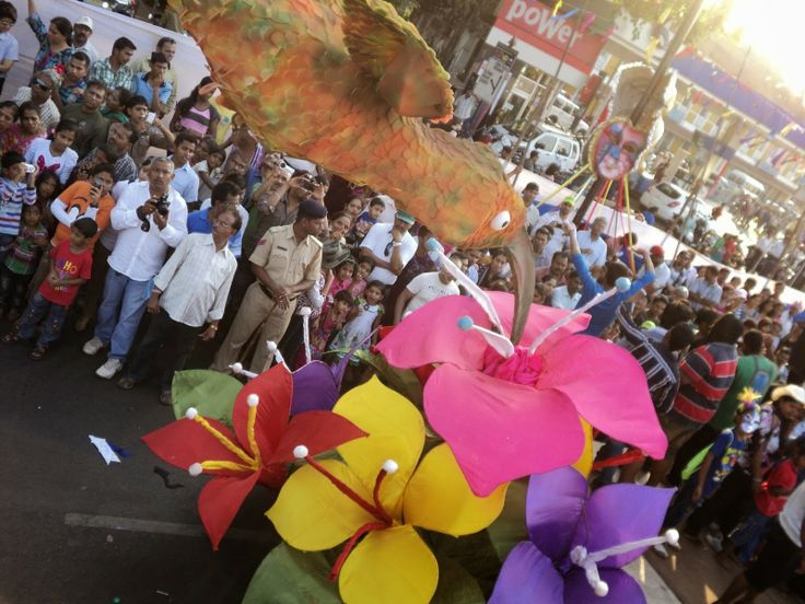 Hibiscus Flower Float at goa carnival