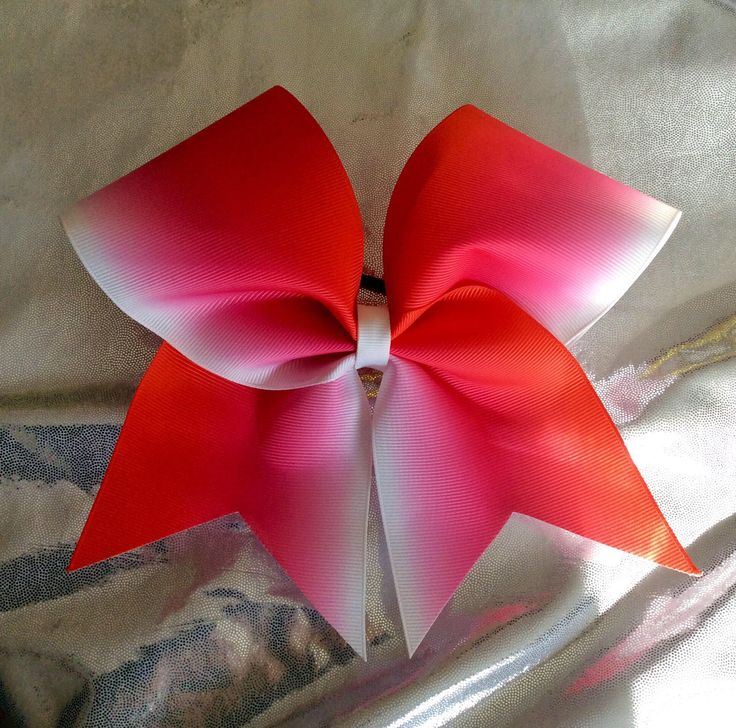 Excited to share the latest addition to my #etsy shop: Red ombre cheer bow/red cheer bow/ombre cheer bow/cheer bow/cheer bows/ team bows