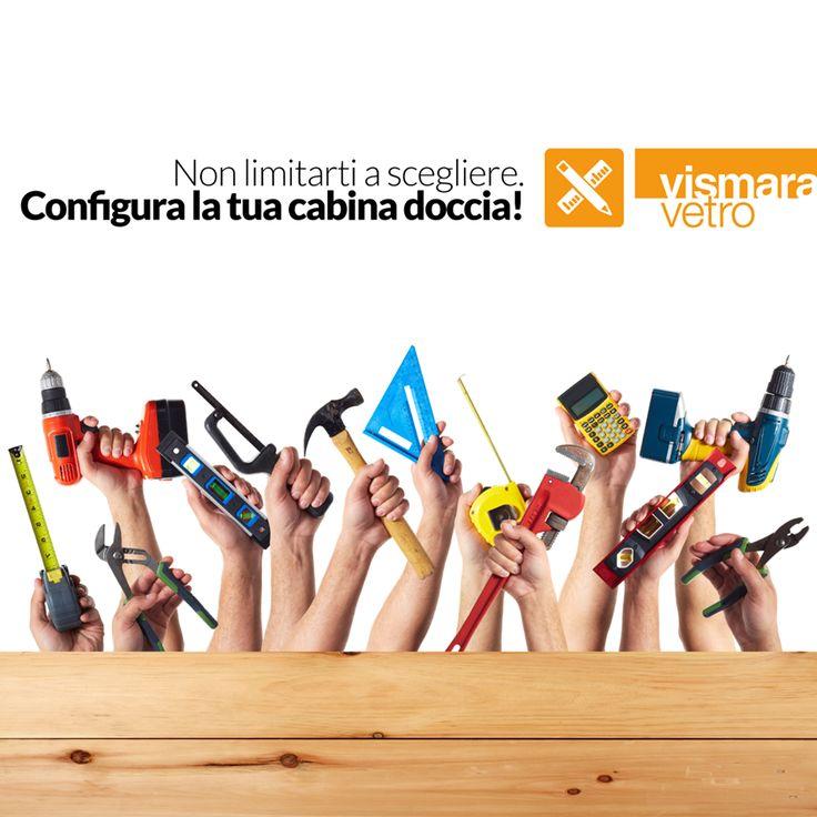 Non limitarti a scegliere Configura la tua cabina doccia! bit.ly/TBWCfc #vismaravetro #configuratore #cabinadoccia #design #madenitaly #boxdoccia