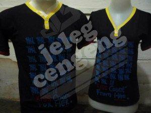 Polo Couple Dark  warna hitam gelap tetap stylish dgn paduan warna kuning. ukuran (all size): Co: Lebar dada 48cm, panjang 70cm Ce: Lebar dada 40cm, panjang 63cm   Harga : Rp 135.000,- sepasang
