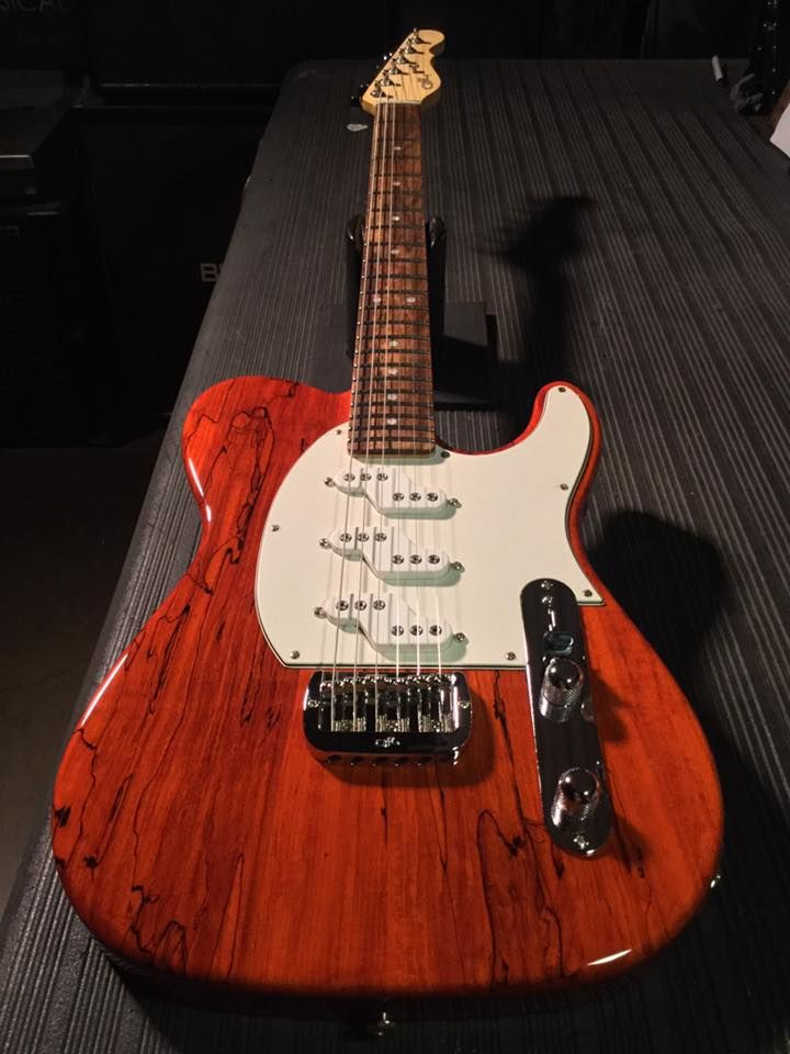 G L Musical Instruments Here S An Asat Z 3 In Clear Orange Over Spalted Maple On Alder Parchment Guard Rear Contour Famous Guitars Cool Guitar Custom Guitars