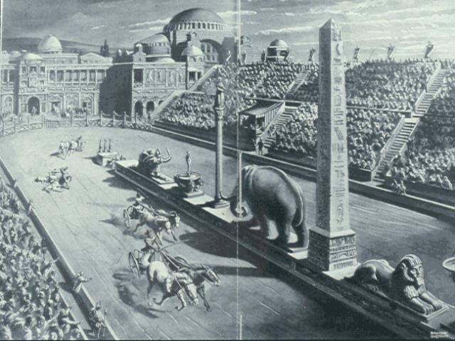 Bugün Sultanahmet meydanı olarak bildiğimiz hipodrom (at meydanı)