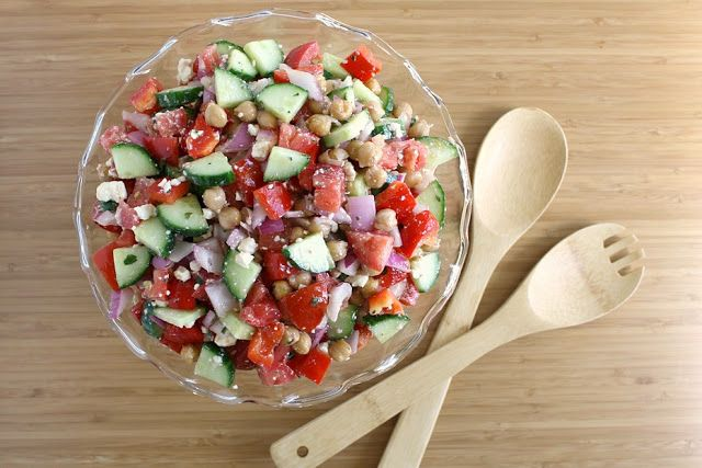 Ultimate Greek Salad with easy red wine vinegar oregano dressing (omit feta for vegan)