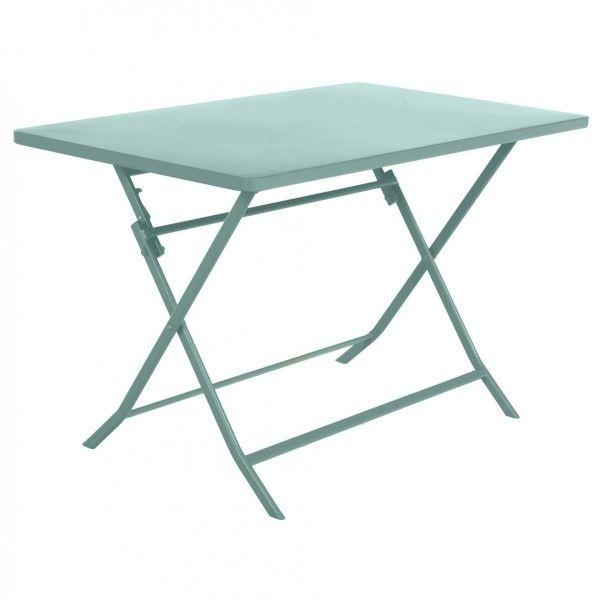 Tavolo Giardino Metallo Pieghevole.Tavolo Da Giardino Rettangolare Pieghevole Metallo Greensboro 110 X