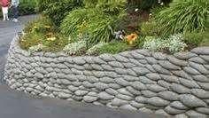 steep gardens concrete bags cement retaining walls mura protettive ...