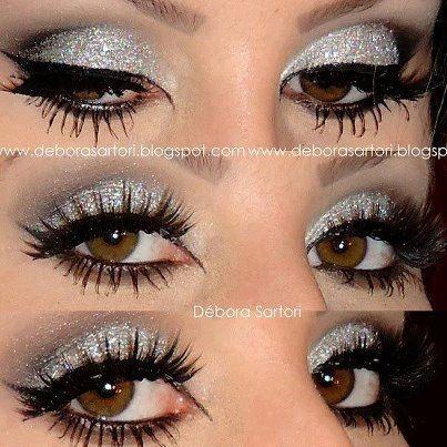 shine shine shine...: Eye Makeup, Eye Shadows, Brown Eye, Halloween Makeup, Glitter Makeup, Parties Looks, Eyeshadows, Drag Queen, New Years Eve