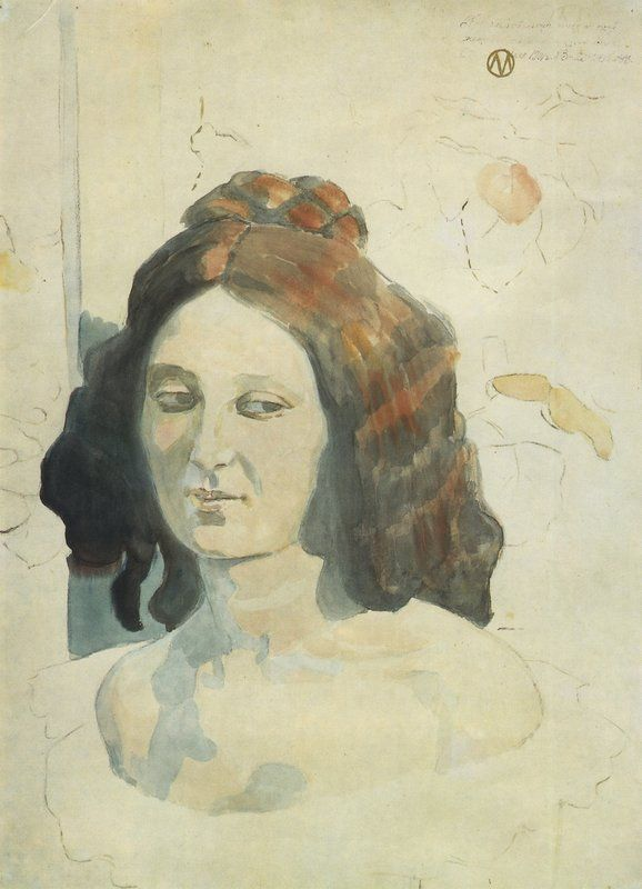 Последний луч. 1901 Бумага, акварель, уголь. 62 x 47 см Государственная Третьяковская галерея Борисов-Мусатов