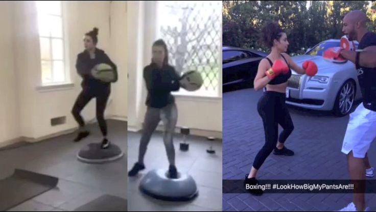 Kim Kardashian, Kourtney and Khloe grueling workout in the gym