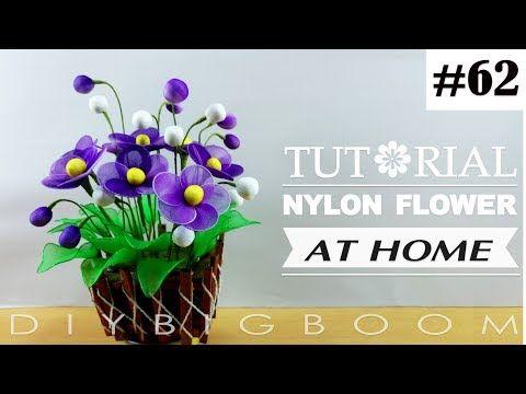 Nylon stocking flowers tutorial #58, How to make nylon stocking flower step by step - YouTube
