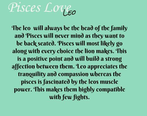 zodiac sign leo and pisces relationship