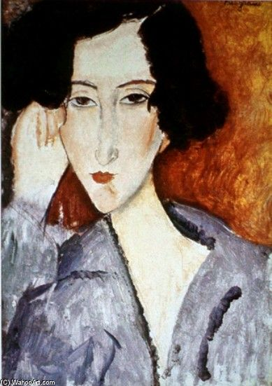 Amedeo Modigliani >> Portrait of Madame Rachele Osterlind  |  (oleo, obra de arte, reproducción, copia, pintura).