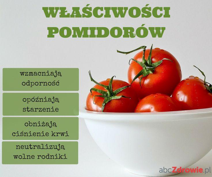 Pomidory zawierają dużo witamin i minerałów oraz cenny dla naszego zdrowia likopen. Zobaczcie, dlaczego warto po nie sięgać!  #pomidory #warzywa #dieta #zdrowie #przekąski #tomatoes #vegetables #diet #healthy #snakcs #abcZdrowie