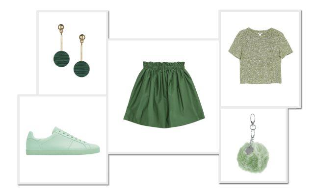 Hippe groene items