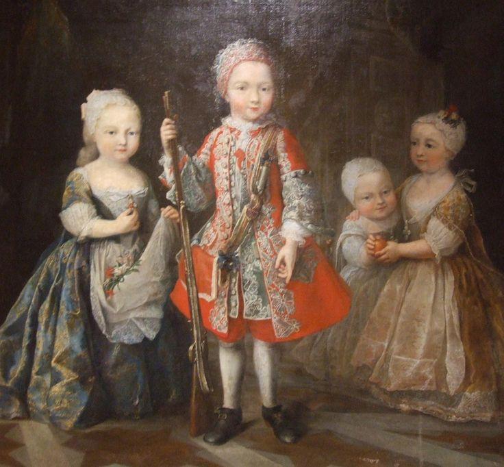 Enfants de Charles-Emmanuel III  This picture shows king Charles Emmanuel III's children. Paint of Maria Giovanni Clémenti (1690-1761). 1730-31