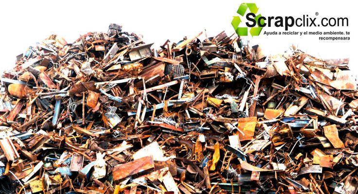Depósitos de Chatarra esperando su clasificación. www.scrapclix.com