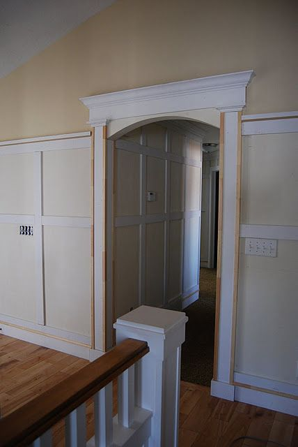 Pillars And Surround Around Arch Moulding Trim Woodwork