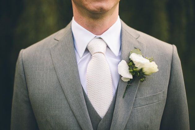 white on grey groom's attire @Albert Palmer