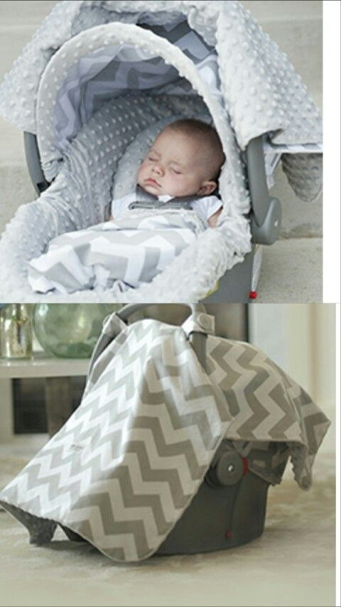 simple cute gray chevron canopy and car seat cover good for a baby boy or girl love that it. Black Bedroom Furniture Sets. Home Design Ideas